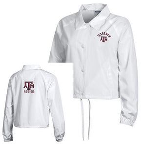 Texas A&M Champion Women's Cropped Coaches Jacket