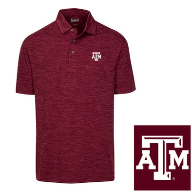 Texas A&M Oxford America Snyder Heathered Jersey Polo