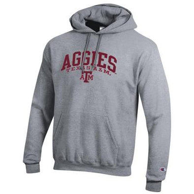 Texas A&M Champion Grey Powerblend Hood
