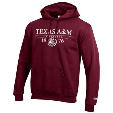 Texas A&M Champion Powerblend Hood