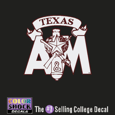 Texas A&M Color Shock School Name Decal