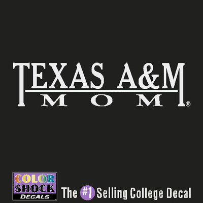 Texas A&M Color Shock Decal
