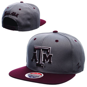 Texas A&M Zephyr Adult Z11 Flat Bill Adjustable Snapback Hat