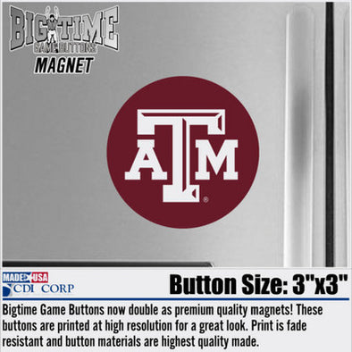 Texas A&M Magnet Button