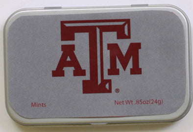Texas A&M Silver Mint Tin