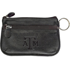 Texas A&M Black Leather Coin Case And ID Holder