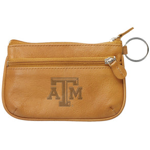 Texas A&M Tan Leather Coin Case And ID Holder