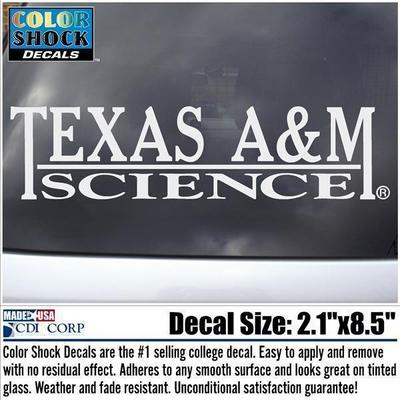 Texas A&M Science Color Shock Decal