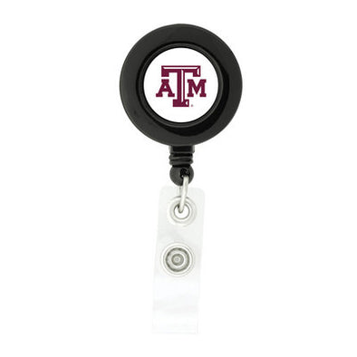 Texas A&M Black Retractable Badge Holder