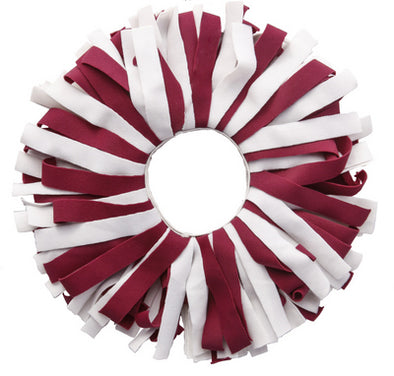 Maroon and White Elastic Band