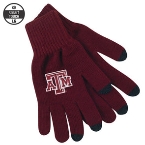 Texas A&M LogoFit uText Smart Touch Maroon Glove - LARGE