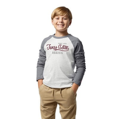 Texas A&M  League Youth Raglan Baseball Tee