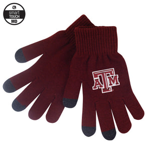 Texas A&M LogoFit iText Smart Touch Knit Maroon Glove - MEDIUM