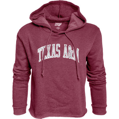 Texas A&M Blue 84 Cassie Cropped Pullover Hoodie