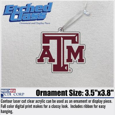 Texas A&M ATM Logo Christmas Ornament