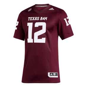 Texas A&M Adidas 2020 Maroon Premiere Football Jersey