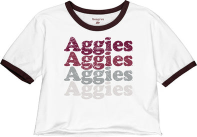 Texas A&M Reserve by Blue 84 Retro Crop Ringer