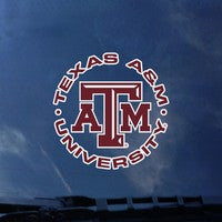 Circle Texas A&M University Decal
