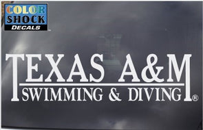 Texas A&M Swimming & Diving Decal
