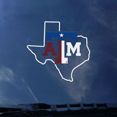 Texas A&M Lonestar Flag Decal
