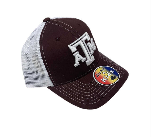 Zephyr Youth Trucker hat- Maroon/White