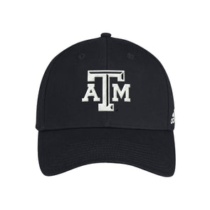 Texas A&M Adidas Black Wool Structured Adjustable Hat