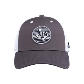 Texas A&M Adidas Gray Trucker Structured Adjustable Hat