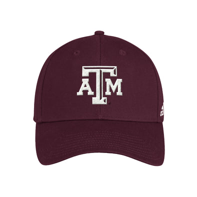 Texas A&M Adidas Maroon Wool Structured Adjustable Hat