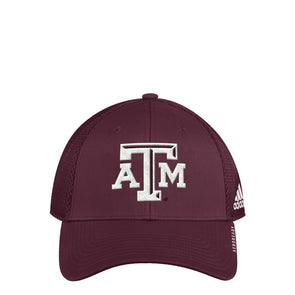 Texas A&M Adidas Men's Maroon Coach Mesh Structured Adjustable Hat