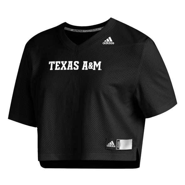 Texas A&M Adidas Women's Black Crop Jersey
