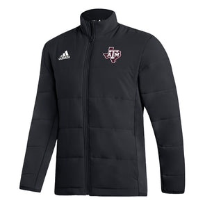 Texas A&M Adidas Black Midweight Jacket
