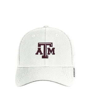 Texas A&M Adidas White Men's Coach Structured Flex