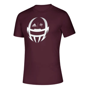 Texas A&M Adidas Football Helmet Maroon Creator Tee