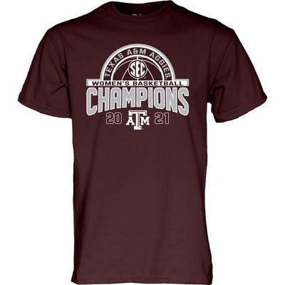 Texas A&M SEC Women's Basketball Champions 2021 Tee