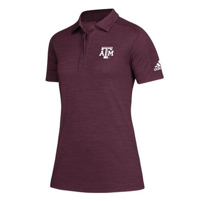 Texas A&M Adidas Womens 2019 Game Mode Maroon Polo