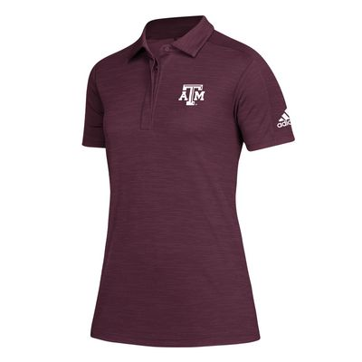 Texas A&M Adidas Women's Game Mode Maroon Polo