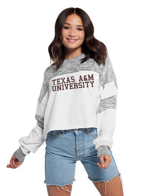 Texas A&M Chicka D Cozy Fleece Colorblock Pullover