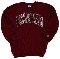Texas A&M Champion Screen Print Crew