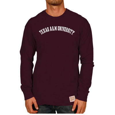 Texas A&M Retro Brand Slub Long Sleeve T Shirt