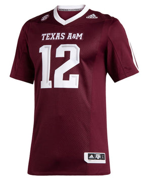 Texas A&M Adidas Men's 2019 Premiere Maroon Football Jersey