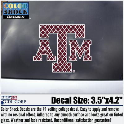 Maroon Patterned ATM Decal