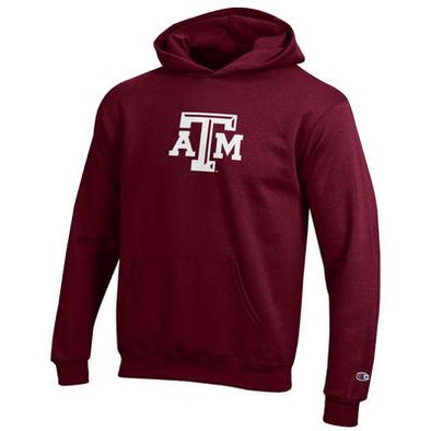 Texas A&M Champion Youth Powerblend ATM Hood