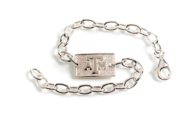 Texas A&M Luggage Tag Bracelet by Kitty Keller