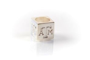 Texas A&M .925 Sterling Silver Add a Bead Charm by Kitty Keller