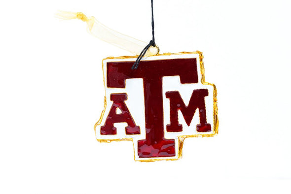 Texas A&M Logo Cloisonné Christmas Ornament