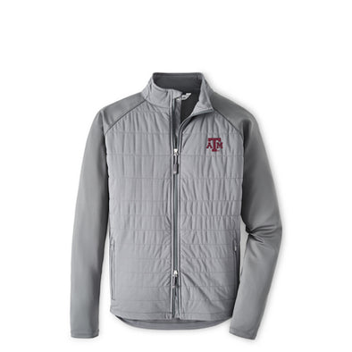 Texas A&M Peter Millar Merge Full Zip Hybrid Jacket