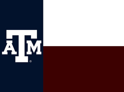 Texas A&M Texas Flag Afghan