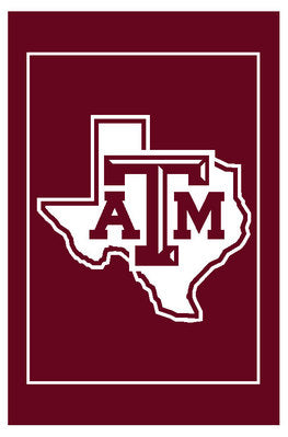 Texas A&M Lonestar Logo Afghan