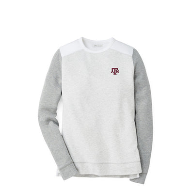 Texas A&M Peter Millar Women's Crown Comfort Colorblock Crew