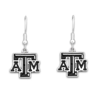 Texas A&M Black Trifecta Enamel Earrings